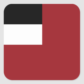 Georgian flag square sticker