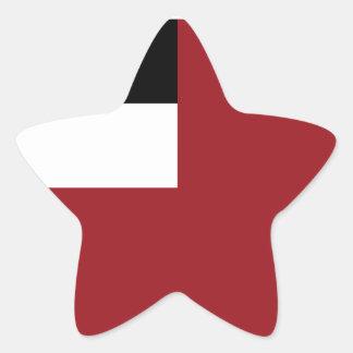 Georgian flag star sticker