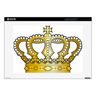 "Georgian_golden_crown_with_pearls_and_cross Decals For 15"" Laptops"