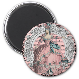 Georgian Lady disco - wink and Blue 2 Inch Round Magnet