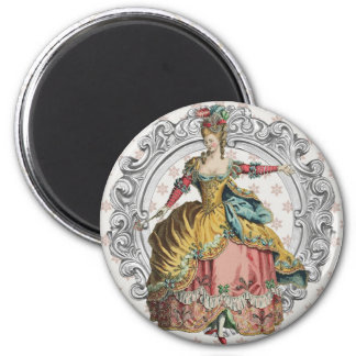 Georgian Lady disco - wink and Yellow 2 Inch Round Magnet