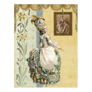 Georgian Lady looking ate by Boucher Postcard