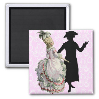 Georgian Lady - wink 2 Inch Square Magnet