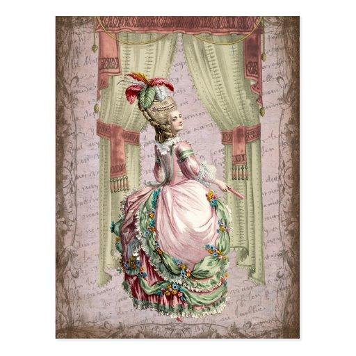 Georgian Lady - wink Postcard