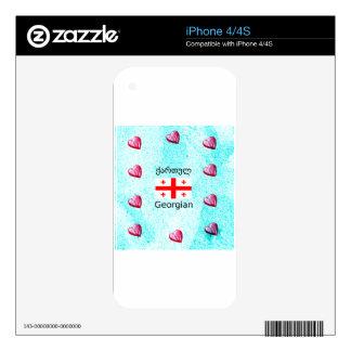 Georgian Language And Flag Design iPhone 4S Skin