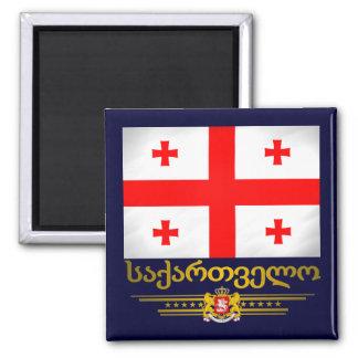 Georgian Pride 2 Inch Square Magnet