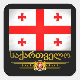 Georgian Pride Square Sticker