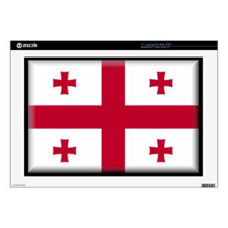 Georgian Republic Flag Laptop Decal