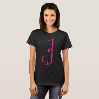 Georgian Script Letter - Q Black T-Shirt