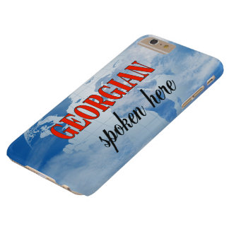 Georgian spoken here cloudy earth barely there iPhone 6 plus case