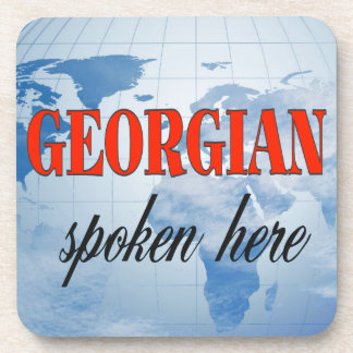 Georgian spoken here cloudy earth coasters