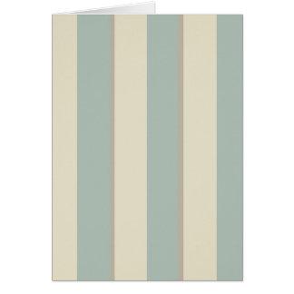 Georgian Stripe Eau de Nil Card