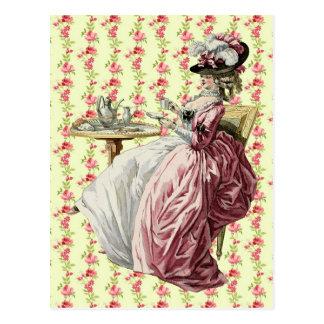 Georgian wink Teatime Postcards