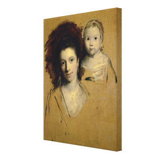 Georgiana, Countess Spencer and her Daughter Lady Canvas Print