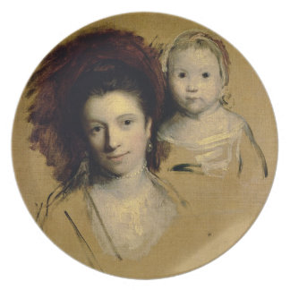 Georgiana, Countess Spencer and her Daughter Lady Melamine Plate