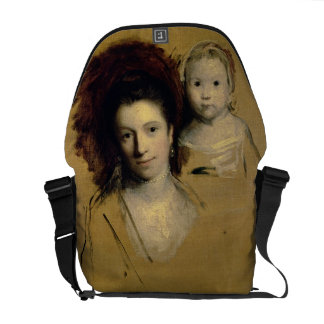 Georgiana Countess Spencer and her Daughter Lady Courier Bag