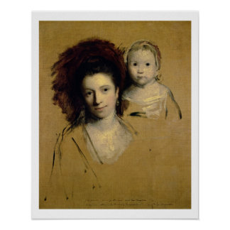 Georgiana, Countess Spencer and her Daughter Lady Poster