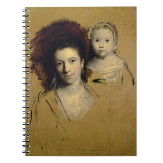 Georgiana, Countess Spencer and her Daughter Lady Spiral Notebook