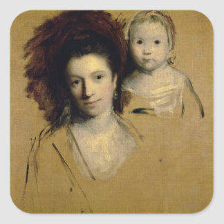 Georgiana, Countess Spencer and her Daughter Lady Square Sticker