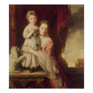 Georgiana, Countess Spencer with Lady Poster