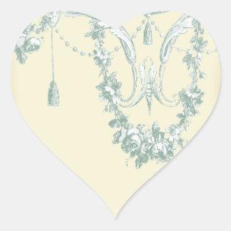 Georgiana (Cream) Envelope Heart Sticker