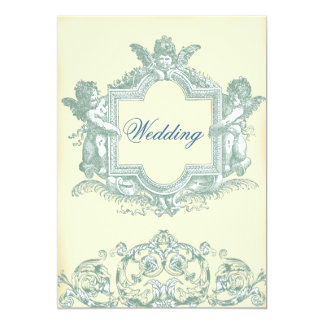 Georgiana (Cream) Wedding 5x7 Paper Invitation Card