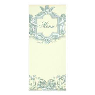 Georgiana (Cream) Wedding Menu 4x9.25 Paper Invitation Card