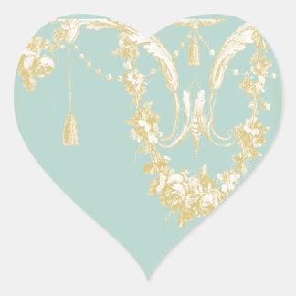 Georgiana (Marie Antoinette Blue) Envelope Seal Heart Sticker