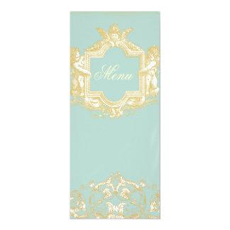 Georgiana (Marie Antoinette Blue) Menu 4x9.25 Paper Invitation Card