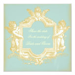 Georgiana (Marie Antoinette Blue) Save the Date Custom Announcement