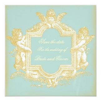 Georgiana (Marie Antoinette Blue) Save the Date 5.25x5.25 Square Paper Invitation Card