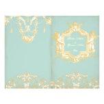 "Georgiana (Marie Antoinette Blue) Wedding Prog 8.5"" X 11"" Flyer"