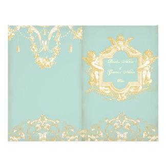 Georgiana (Marie Antoinette Blue) Wedding Prog Flyer
