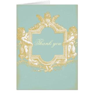 Georgiana (Marie Antoinette Blue) WeddingThank you Stationery Note Card