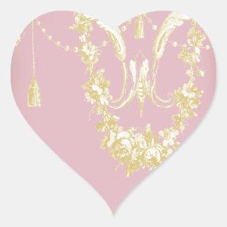 Georgiana (Peony pink) Heart Sticker