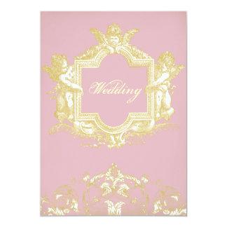 Georgiana (Peony pink) 5x7 Paper Invitation Card