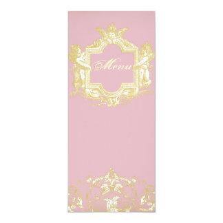 Georgiana (Peony Pink) Menu 4x9.25 Paper Invitation Card