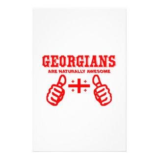 Georgians es naturalmente impresionante papeleria