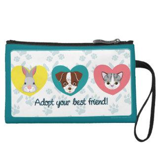 Georgie & Bethie: Adopt your best friend! Wristlet