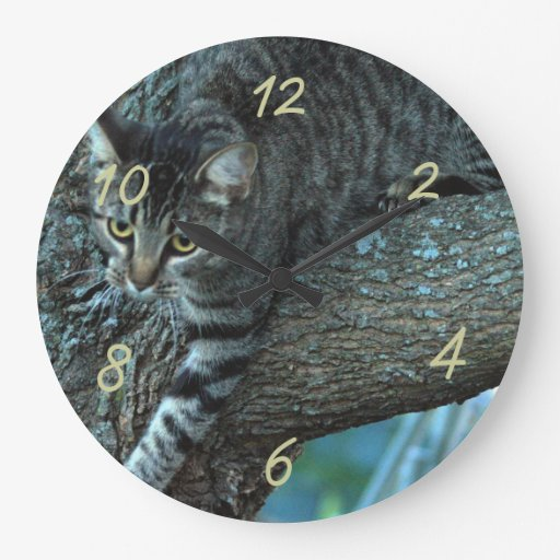Georgie cat in a tree clock- customize
