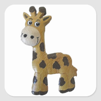 Georgie Giraffe Square Sticker
