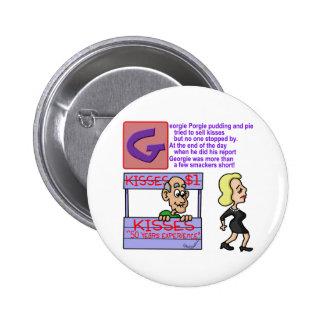 Georgie Porgie Pinback Buttons