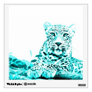 Georgous Turquoise Leopard Wall Sticker