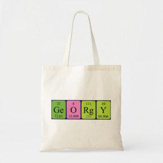 Georgy periodic table name tote bag