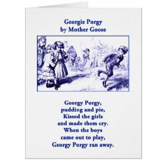 Georgy Porgy Mother Goose Nursery Rhyme Vintage Card