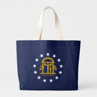 Georiga State Flag blue bag