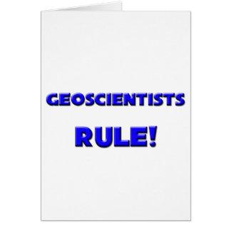 Geoscientists Rule Card