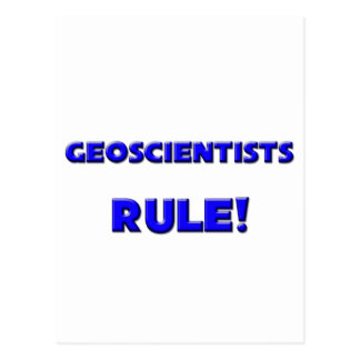 Geoscientists Rule Post Cards