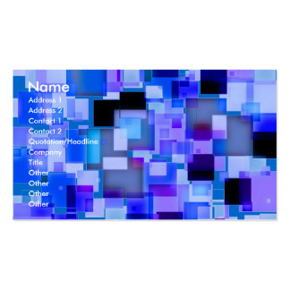 GeoSquare Blue Double-Sided Standard Business Cards (Pack Of 100)