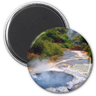 Geothermal Activity near Rotorua, New Zealand 2 Inch Round Magnet